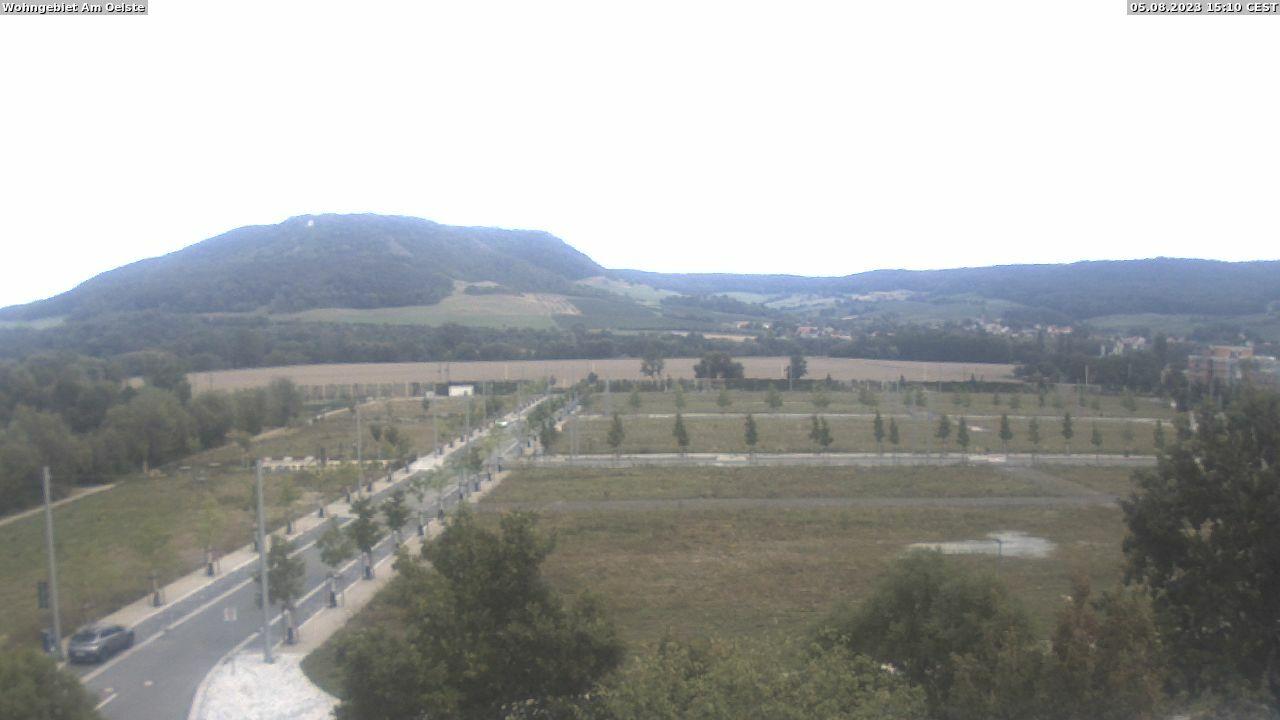 Webcam künftiges Wohngebiet Am Oelste, Blickrichtung nach Osten zur Kunitzburg